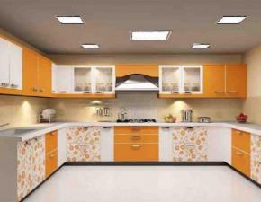 Moderni ir jauki virtuvė